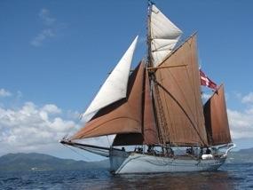 Yukon under sail